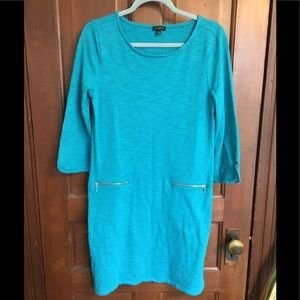 Talbots cotton tunic/dress with 3/4 sleeves - L